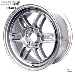 356 Racing Wheels TFS-301 (15x7, 5x100+35mm, 57.1mm Hub, Set of 4 Wheels)