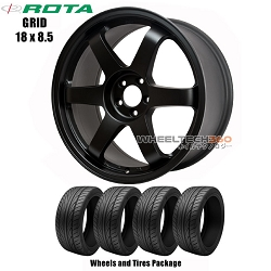 ROTA Wheels Grid (18x8.5) Wheels and Tires Package