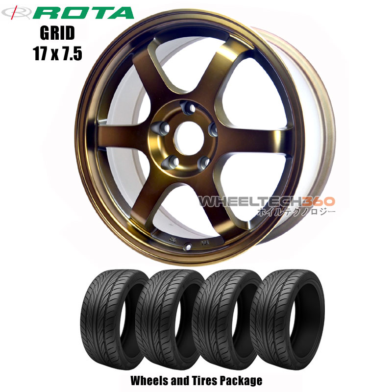 ROTA Wheels Grid (17x7.5) Wheels and Tires Package