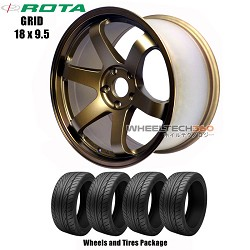 ROTA Wheels Grid (18x9.5) Wheels and Tires Package